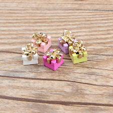 New Cute 10PCS Enamel Gold Tone candy Charms Pendants DIY Jewelry Making 8x11mm