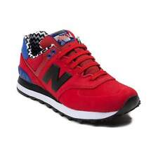 NEW Womens New Balance 574 Athletic Shoe Red Blue CHEVRON Print