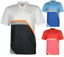 Slazenger Perforated Print Golf Polo Shirt Mens Tennis Mesh ~All Sizes S-XXL