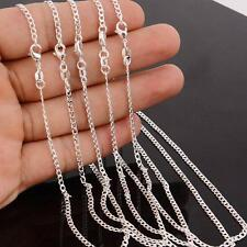 1/5PCS Wholesale lots 925 Silver Plated Pendant Chain Party Necklace 16-24Inch