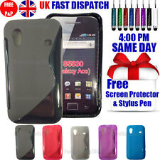 GRIP S-LINE SILICONE GEL CASE & FREE SCREEN PROTECTOR FITS GALAXY ACE S5830
