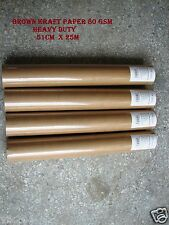 2 x 25 mtrs 80 GSM BROWN KRAFT PACKAGING HEAVY DUTY PARCEL WRAPPING PAPER ROLLS