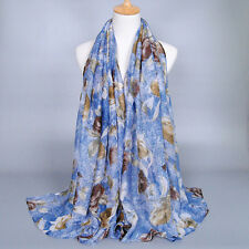 Womens Ladies Long Chiffon Neck Soft Scarf Wraps Shawl Scarves Pashmina Stole