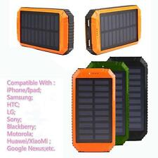 Solar Panel Power Bank 20000mah Portable External Battery Charger For Phones
