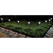 Homebrite Solar Power Sierra Path Lights - Set of 8 - Stainless Steel