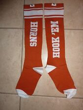 "VICTORIAS SECRET PINK COLLEGIATE ""TEXAS LONGHORNS"" KNEE HIGH ONE SIZE SOCKS NWT"