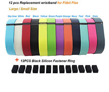 12pcs Replacement Metal Clasp Wrist Band For Fitbit Flex Bracelet No Tracker New