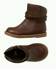 NWT Baby gap toddler girls size 6, 9, 13 ankle brown boots braided