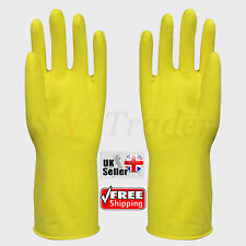Super Touch Household Washing Kitchen Dish Cleaning Latex Rubber Yellow Gloves