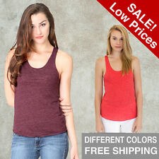 Womens Triblend Racer TANK XS S M L XL 2X Tank Top No Sleeves American Made