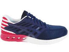 NEW MENS ASICS GEL FUZEX RUNNING SHOES TRAINERS INDIGO BLUE / TRUE RED / WHITE