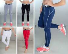 Ladies Yoga Pilates Fitness Gym Running Tights Fitness Compression Skins sz 8-16