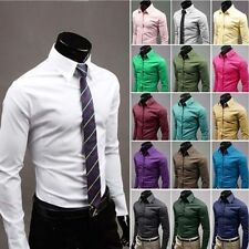 HOT Mens Luxury Stylish Comfortable Casual Shirts Long Sleeve Dress Shirts Tops