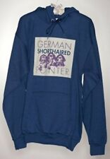German Shorthaired Pointer Navy Hooded Pullover Sweatshirts - Puppy Series