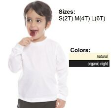 Toddler Long Sleeve Organic Crew Tee Royal Apparel Alternative American Eco Tee