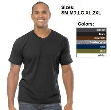 Men V-Neck T-Shirt Short Sleeve Royal Apparel S M L-2XL Alternative American Tee