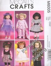 """Pattern McCalls Sewing Fits Girl 18"""" inch Doll Clothes Ballerina Coat Pajamas"""
