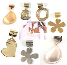 NEW Pendant For Scarf Silver/Gold Plated casting Metal Removable Pip Scarve Cool