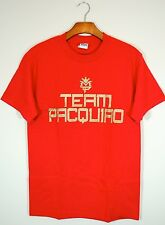 Manny Pacquiao Training T Shirt Boxing Mens Team Pacquiao Red Tee Final Fight