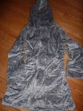 VICTORIAS SECRET PINK BLING SEQUIN MARLED VELOUR PLUSH HOODED DOG ROBE 1SIZE NWT