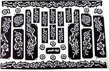 Self Adhesive Decal Stencils For Henna Temporary Tattoo (Small Size)
