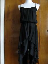 NWT Guess women's black rayon asymmetrical dress  size S,M,L retail value $118