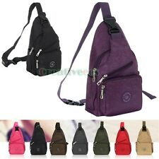 Vintage Travel Hiking Messenger Shoulder Back Pack Sling Chest Bag Casual Pouch