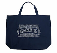Large Tote Bag - The US Ranger Creed Created using The Ranger Creed