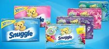 70 -80 Sheets SNUGGLE EXHILARATIONS DRYER SHEETS Fabric Softener ~PICK ONE