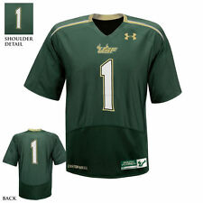 Under Armour South Florida Bulls #1 Green Performance Replica Football Jersey -