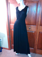 Dress Black Full length Liz Lang Maternity Size L Braided diamond front
