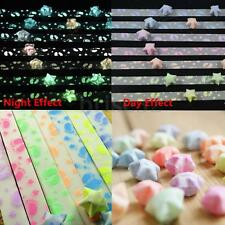 New 300Pcs Strips Folding Lucky Wish Stars Origami Paper Ribbon Fluorescence