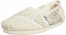 Toms Classic Natural Womens Crochet Espadrilles Shoes Slipons