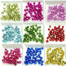 Wholesale 50pcs Bicone Faceted Crystal Glass Findings Loose Spacer Beads 6mm