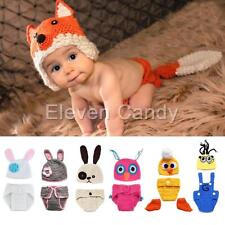 Baby Infant Girl Boy Crochet Knit Hat Beanie Cap Photo Outfits Clothes Costume