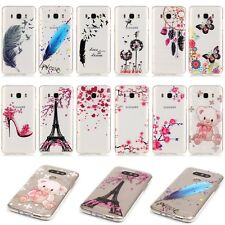 Ultra Thin Transparent Clear Crystal Rubber TPU Soft Case Cover Pattern Gel Skin