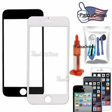 For iPhone 4/4S 5/5S SE 6S Plus Replacement Front Screen Glass Lens Tools/Glue