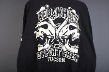 "Hells Angels Tucson - "" 2 Skulls"" Black or Red Support Sweatshirt (XL-4XL)"