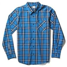 LRG Men's Research Collection Long-Sleeve Poplin Plaid Woven Shirt - Blue & Red