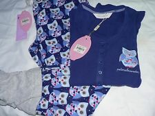 Womens Peter Alexander Owl Bird Set Flannelette Legwarmer Pant & Top- Medium NWT