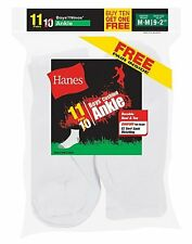 Hanes EZ-Sort® Boys' Ankle Socks 11-Pack (Includes 1 Free Bonus Pair) 422/11