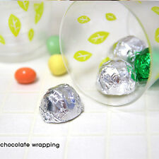 100Pcs Sweets Candy Package Foil Paper Chocolate Lolly Foil Wrappers Square Pop