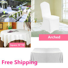 WHITE Polyester Tablecloth TABLE COVER CLOTH Banquet Wedding CHAIR COVERS SA