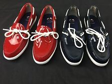 New without Box Cole Haan Nantucket Camp Moc Navy Patent Shiney size variation