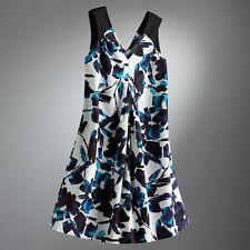SIMPLY VERA WANG Blue Brushstroke Shift Dress~Lightweight~Size 4