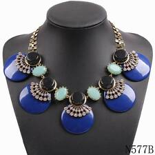 New arrival fashion resin statement necklace choker chunky bib collar necklace