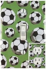 Sports Soccer Ball Single Toggle Decorative Light Switch Cover Outlet Wall Plate