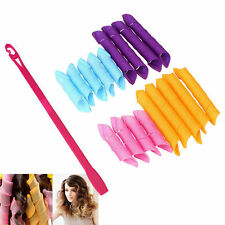 18Pcs Portable Curl Stretchy Magic Plastic Hair Curler Hair Roller Styling