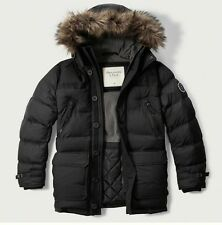 """Mens Abercrombie & Fitch Fleece Quilted """"Hooded Puffer Parka"""" Jacket Size S, M,"""