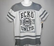 Gray and White Ecko Unlimited Casual Graphic Tee